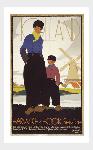 Visit Holland Harwich Hook Travel Poster Digital Download