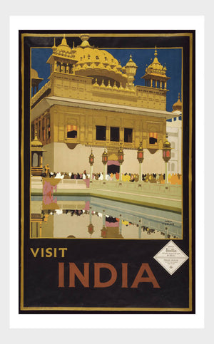 Visit India Palace Travel Poster Digital Download