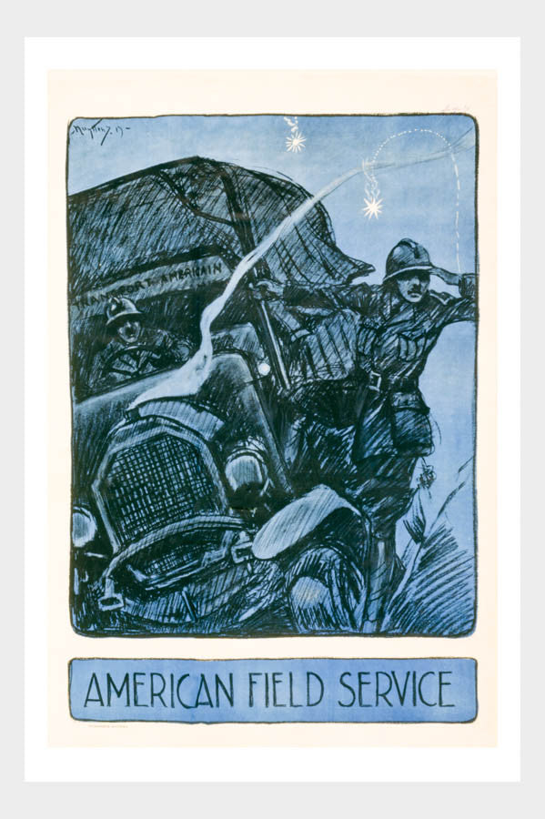 WWI American Field Service Poster Digital Download