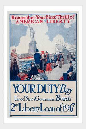 WWI American Liberty Bonds Poster Digital Download