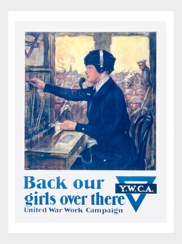 WWI Back Our Girls YWCA Poster Digital Download