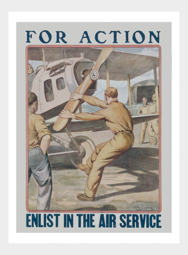 WWI Enlist Air Service Recruitment Poster Digital Download
