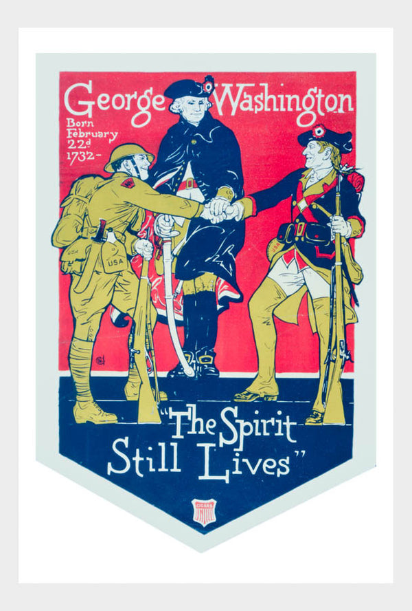 WWI George Washington The Spirit Still Lives War Poster Military Digital Download