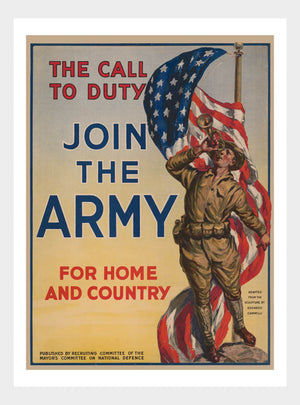 WWI Join The Army Recruitment War Poster Military Digital Download
