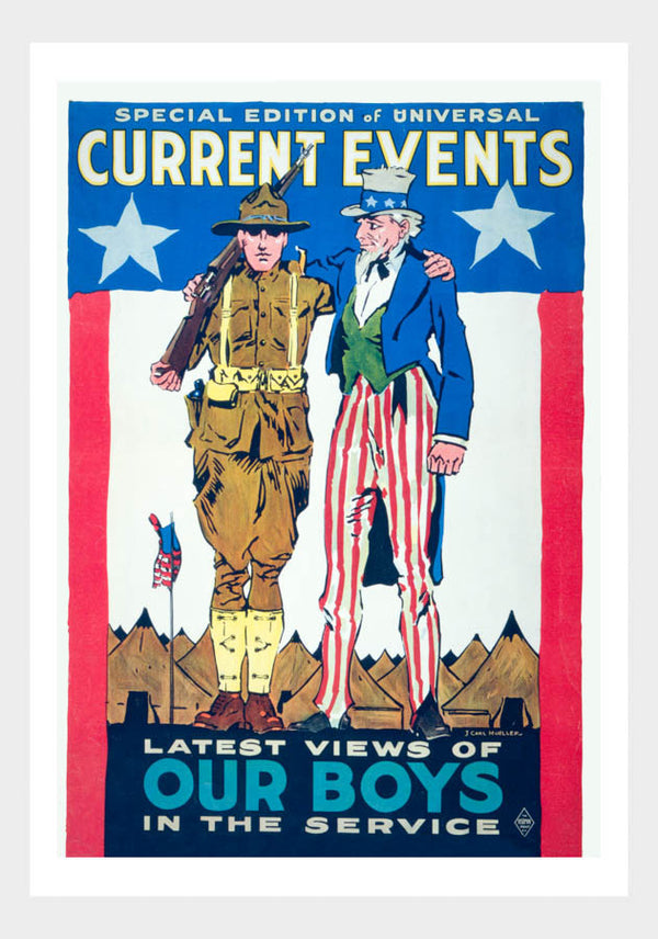 WWI Latest Views Of Our Boys In The Service War Poster Military Digital Download
