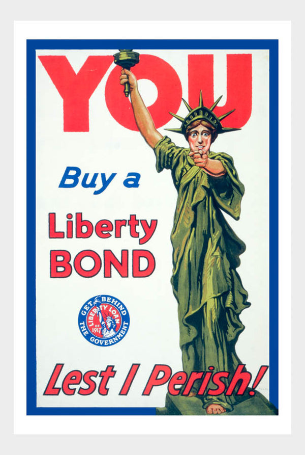 WWI Liberty Bond War Poster 01 Military Digital Download