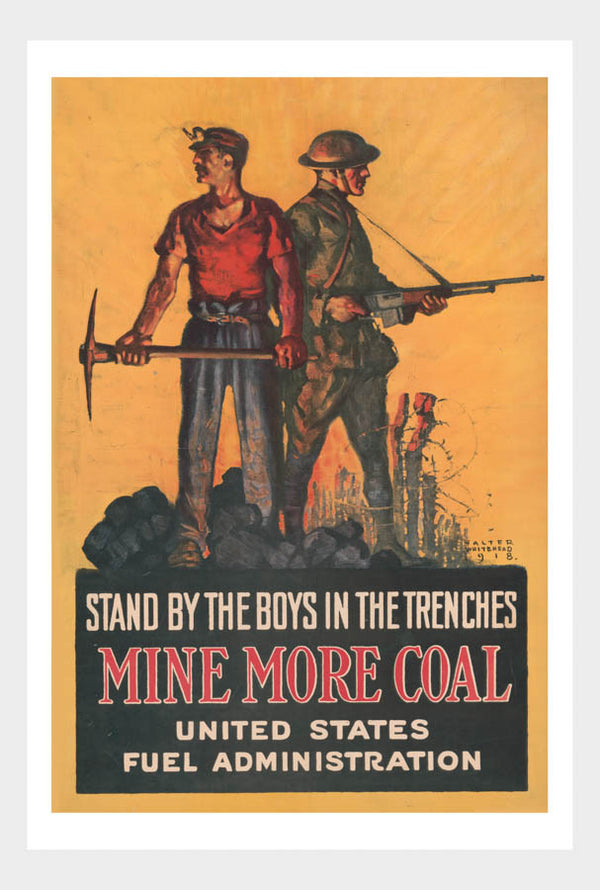WWI Mine More Coal War Poster Military Digital Download