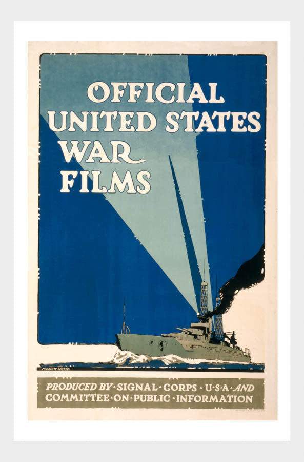 WWI Official US War Films Navy 01 War Poster Military Digital Download