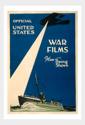 WWI Official US War Films Navy 02 War Poster Military Digital Download
