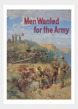 WWI Wanted For The Army 01 War Poster Military Digital Download