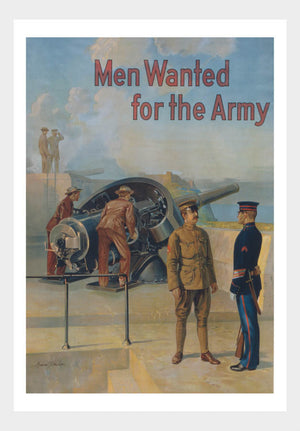 WWI Wanted For The Army 02 War Poster Military Digital Download