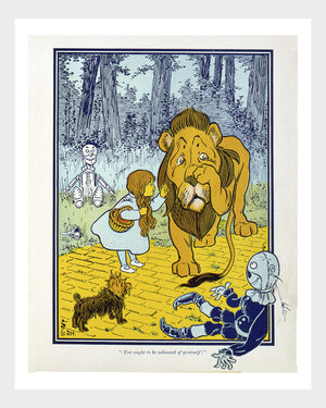 Wizard of Oz Cowardly Lion Digital Download