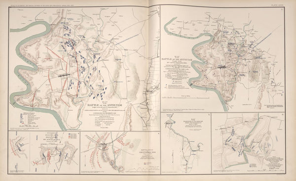 "American Civil War Map: ""Suffolk, Virginia; Gettysburg & Antietam Maryland"" Digital Download"