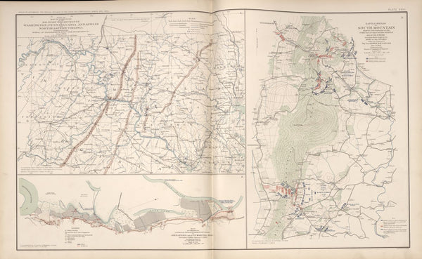 "American Civil War Map: ""Washington, D.C ; Annapolis, Pennsylvania ; Northeastern Virginia; South Mountain, Maryland; Vicksburg,Mississippi"" Digital Download"