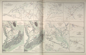 "American Civil War Map: ""Groveton, Catlett Virginia; Secessionville, James Isand, South Carolina; Grand Lake Region"" Digital Download"