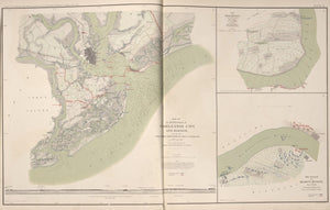 "American Civil War Map: ""Charleston City and Harbor; Plan and Battle of Belmont, Missouri"" Digital Download"