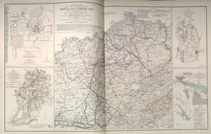 "American Civil War Map: ""Cumberland, Maryland; Perryville, Kentucky; Baton Rouge, Louisiana; Washington, D.C."" Digital Download"