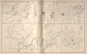 "American Civil War Map: ""Decherd; Manchester; Tullahoma; Shelbyville; Chattanooga; Jasper, Tennessee"" Digital Download"
