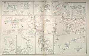 "American Civil War Map: ""Hanover; New Market; Malvern Hill; Cross Keys; Old Church, Virginia"" Digital Download"