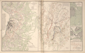 "American Civil War Map: ""Petersburg, Virginia ; Gettysburg, Pennsylvania; Lovejoy's Station, Georgia; New Berne, North Carolina"" Digital Download"
