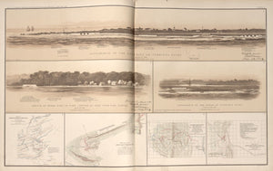 American Civil War Map : Views of Cumming's Point and Fort Johnson, Maps of Rich Mountain, West Virginia Digital Download