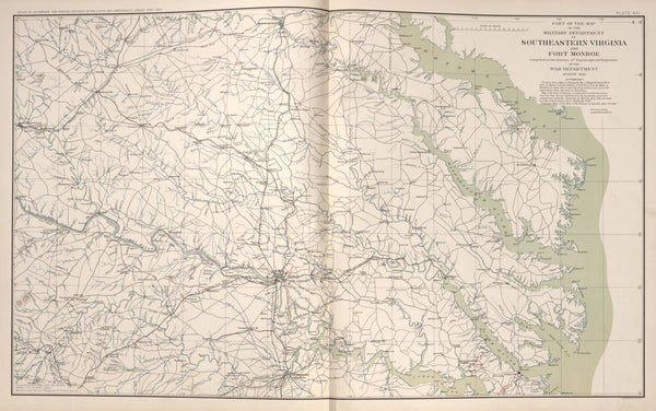 "American Civil War Map: ""Southeastern Virginia and Fort Monroe, Virginia"" Digital Download"