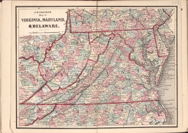 American Civil War Chronological Map: 1/8 Virginia, Maryland, and Delaware Digital Download