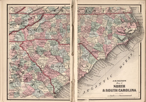 American Civil War Chronological Map: 2/8 North and South Carolina Digital Download