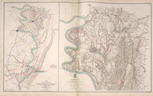 "American Civil War Map: ""Harper's Ferry, West Virginia; Antietam & Sharpsburg, Maryland"" Digital Download"