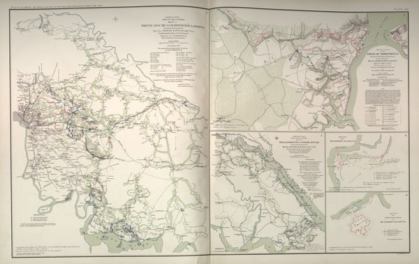 "American Civil War Map: ""White House to Harrison's Landing; Yorktown; Williamsburg; Mulberry Island, Virginia"" Digital Download"