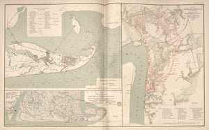 "American Civil War Map: ""Galveston, Texas; Port Hudson, Louisiana; Charleston, South Carolina"" Digital Download"