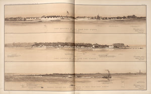 American Civil War Map: Views of Fort Moultrie, Fort Johnson, Morris Island, Cumming's Point Digital Download