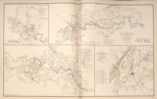 "American Civil War Map: ""Jackson; Rappahannock; Port Royal; Richard's Ferry; Fredericksburg; Chancellorsville"" Digital Download"