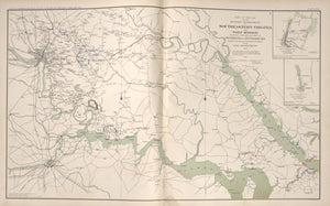 "American Civil War Map: ""Southeastern Virginia and Fort Monroe, Virginia .,approaches to Richmond and Petersburg"" Digital Download"