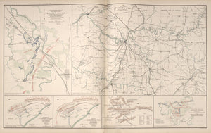 "American Civil War Map: ""Map of Tennessee; Stone's River, Battle of Chickamauga; Huntersville, West Virginia"" Digital Download"