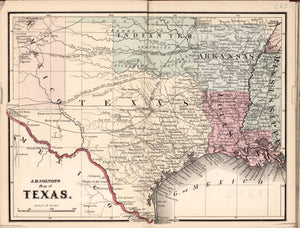 American Civil War Chronological Map: 5/8 State of Texas Digital Download