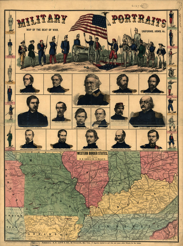 American Civil War Portraits & Map: Western Border States Digital Download