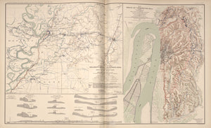 "American Civil War Map: ""Vicksburg & Jackson Mississippi; Millikens Bend, Louisiana"" Digital Download"