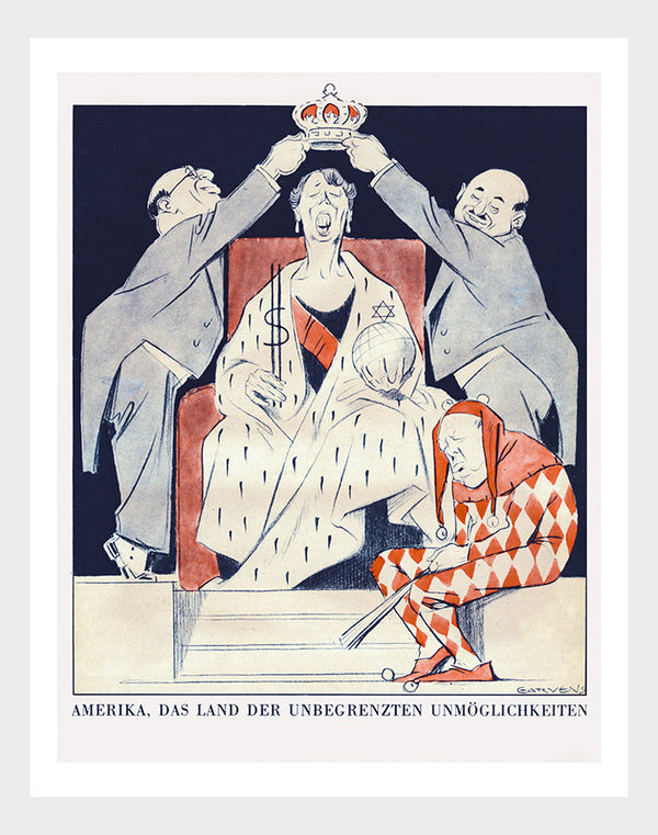 Eleanor Roosevelt WWI German Propaganda Cartoon Digital Download