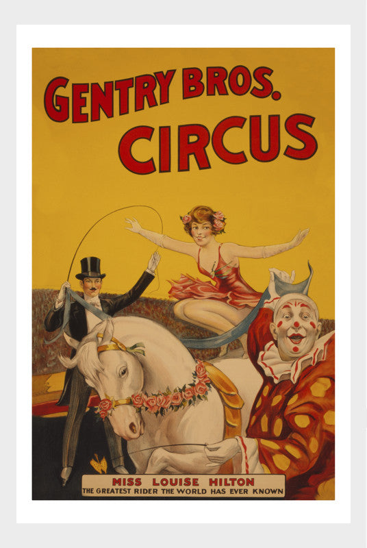 Gentry Brothers Circus Greatest Rider : Ms. Louise Hilton Digital Download