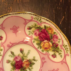 Royal Albert Rose Cameo Pink Bone China Saucer for Teacup