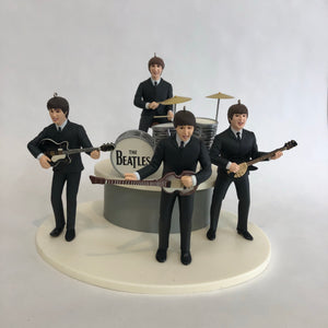 Vintage The Beatles 1994 Hallmark Keepsake Christmas Ornament Set