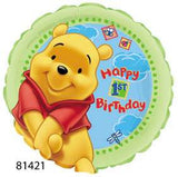 "18"" Happy Birthday 1st Pooh"