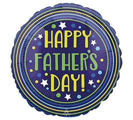"18"" Happy Father's Day Circles and Stars"