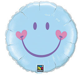 "18"" Blue Smiley"