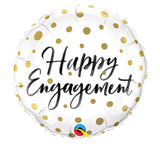 "18"" Happy Engagement Gold Dots"