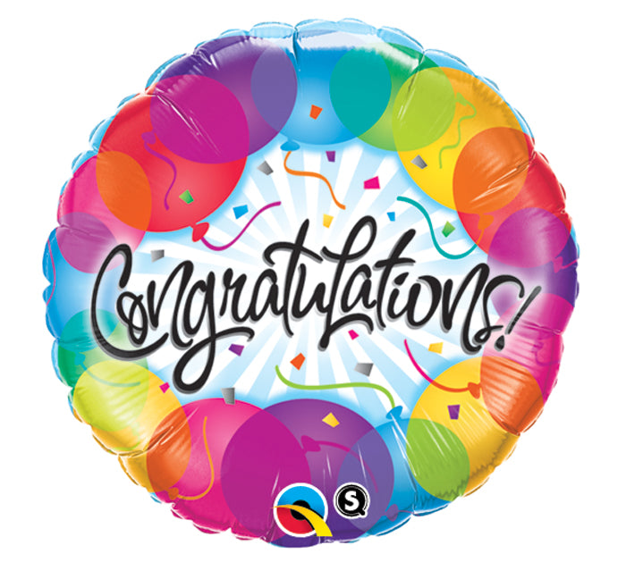 "18"" Congratulations with Balloons"