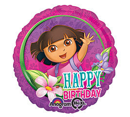 "18"" Happy Birthday Dora"