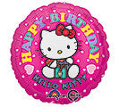 "18"" Happy Birthday Hello Kitty (dots)"
