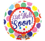 "18"" Get Well Soon Dots"